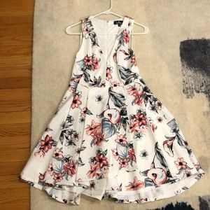 Cute white floral bridal shower dress